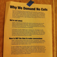 why we demand no cuts